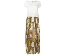 Kleid mit plissiertem Rock - women - Polyester