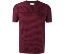Gestreiftes T-Shirt mit Fake-Tasche