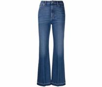 Halbhohe Straight-Leg-Jeans