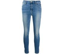 Skinny-Jeans mit tiefer Taille