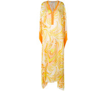 printed maxi kaftan dress