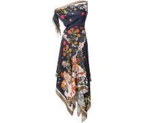 Florales Kleid mit Zipfelsaum