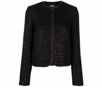 Tweed-Jacke mit Bouclé-Muster