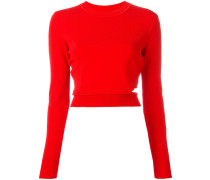 Cropped-Sweatshirt mit Cut-Out - women