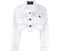 Cropped-Jeansjacke mit Brusttaschen
