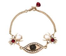Armband mit Augen- und Käferanhänger
