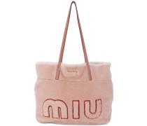 My Miu shearling tote bag