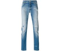distressed slim fit jeans