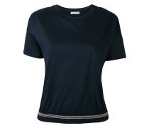 T-Shirt mit geripptem Saum