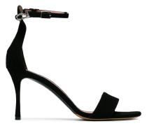 Black Tilda 85 Suede sandals