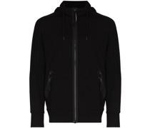 goggle-detail zip-up hoodie