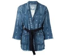 Jeans-Kimono mit Kyoto-Print