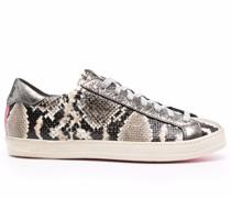 Sneakers mit Schlangenledereffekt