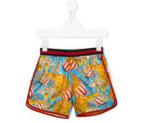 Shorts mit Zirkus-Print