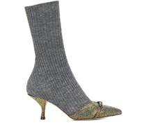 Gerippte Sock-Boots