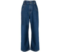 BAGGY RINSE WASHED JEANS BLUE NAVY
