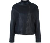 Kragenlose Jacke mit asymmetrischem Reißverschluss