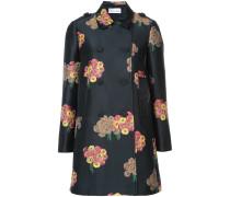 Mittellanger Mantel mit floralem Print