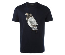 T-Shirt mit Paillettenvogel - men - Baumwolle