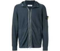 shell hood zipped hoodie