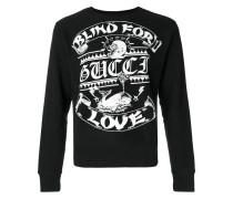 blind for love print sweatshirt