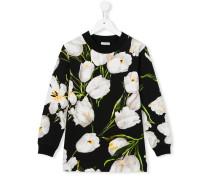 Sweatshirt mit Tulpen-Print
