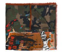 Garavani Schal mit Camouflage-Print