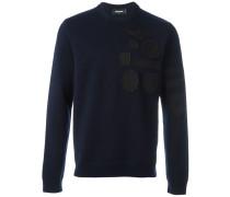 Sweatshirt mit Patches - men - Schurwolle - XXL