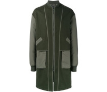 Mantel mit Kontrastärmeln - men