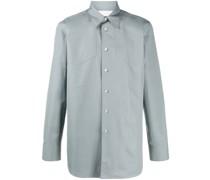 panelled long sleeve cotton shirt