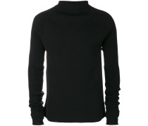 ribbed detail turtleneck jumper