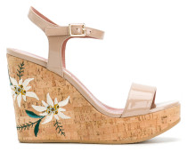 Caelie embroidered wedge sandals
