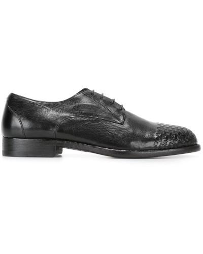 Derby-Schuhe mit gewebter Kappe
