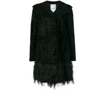 Persian lamb fur trim coat