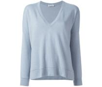 Kaschmir-Sweatshirt mit V-Ausschnitt - women