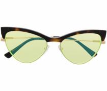 Cat-Eye-Sonnenbrille mit Schildpattdetail