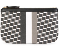 'Cube Stripe' clutch