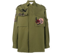embroidered parka jacket - women