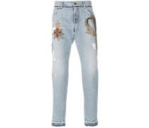 crest patch jeans