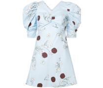 Gepunktetes Kleid mit floralem Print