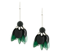 petal and strass earrings