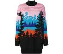 Oversized-Pullover mit Waldmotiv