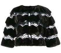 cut-out mesh cape