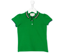 Poloshirt mit gerafften Ärmeln