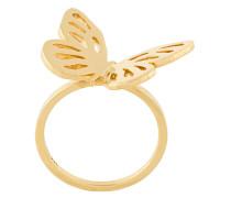 Vergoldeter 'Butterfly' Silberring