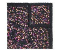 Schal mit Stiefmütterchen-Print