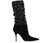 Stiletto-Stiefel mit Pailletten