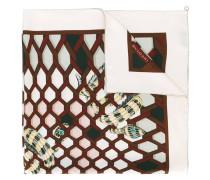 snake print scarf - women - Seide