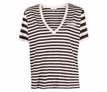 Software striped-print T-shirt