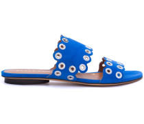 - eyelet flat sandals - women - Leder/Wildleder